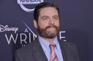 """Zach Galifianakis arrives at Disney's """"A Wrinkle In Time"""" World Premiere"""