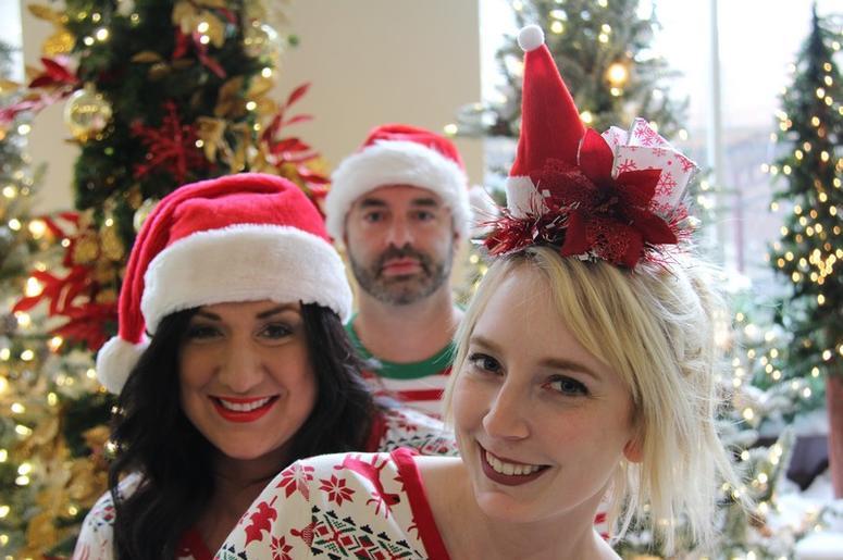 Matching Christmas Pajamas for the Jen & Tim Show - 2017