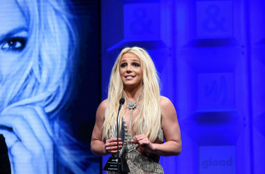 Britney Spears accepts the Vanguard Award onstage at the 29th Annual GLAAD Media Awards