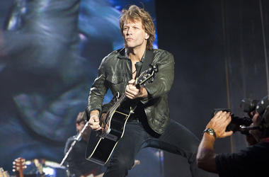 Jon Bon Jovi of Bon Jovi performs