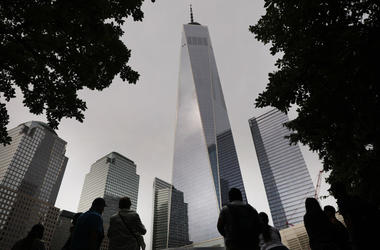 One World Trade Center towers over the September 11 Memorial and Museum on September 05, 2019 in New York City. New York City is preparing to commemorate the 18th anniversary of the attacks on the World Trade Center in which 2,996 people were killed and o