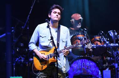 John Mayer performs
