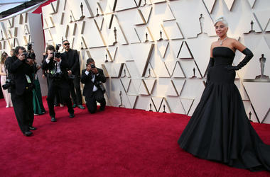 Lady Gaga arrives at the 91st Academy Awards at the Dolby Theatre.
