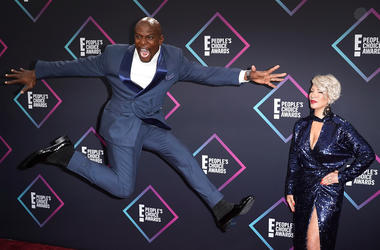 Rebecca King-Crews, Terry Crews attend the People's Choice Awards 2018 at Barker Hangar on November 11, 2018 in Santa Monica, California.