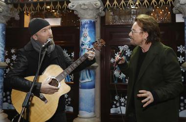 U2's The Edge and Bono