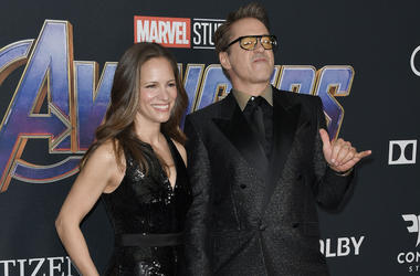 """L-R) Susan Downey and Robert Downey Jr. at Marvel Studios' """"Avengers: Endgame"""" World Premiere held at the Los Angeles Convention Center in Los Angeles, CA on Monday, April 22, 2019."""
