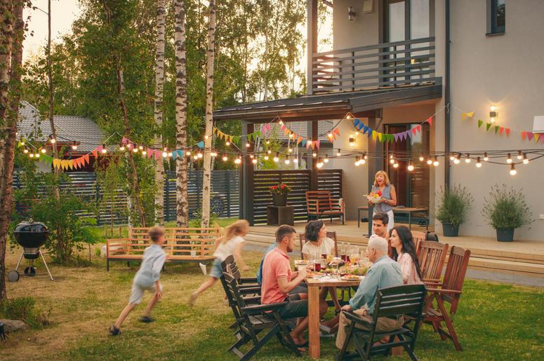 Big Family Garden Party Celebration