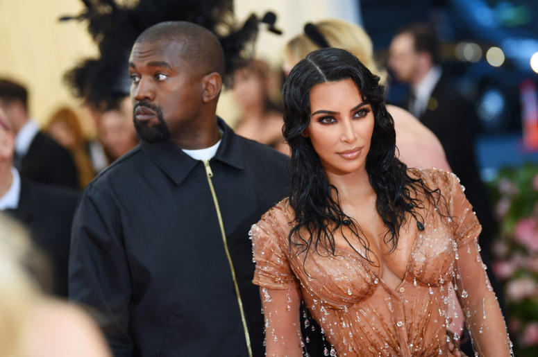 Kim Kardashian West and Kanye West attend The 2019 Met Gala