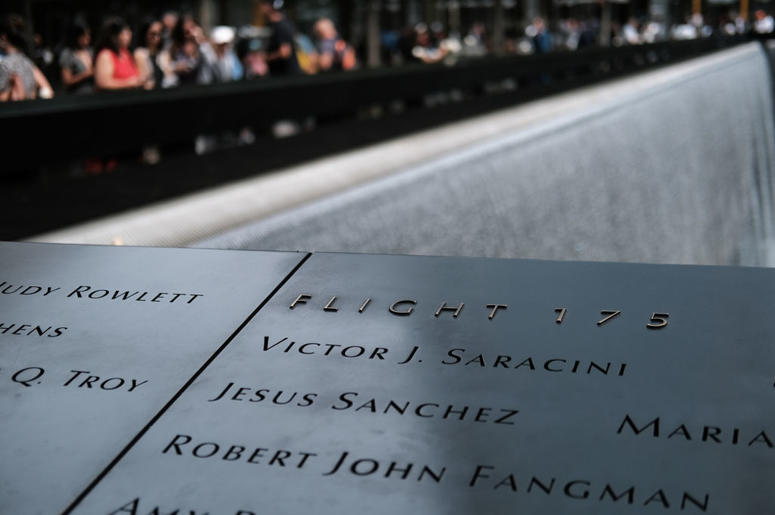 Victims names are displayed on the grounds of the September 11 Memorial and Museum on September 05, 2019 in New York City. New York City is preparing to commemorate the 18th anniversary of the attacks on the World Trade Center in which 2,996 people were k