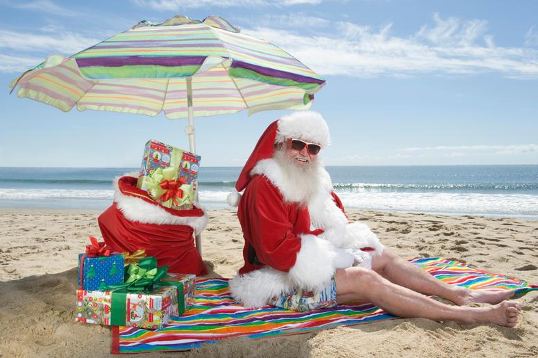 Christmas Outfit On Beach