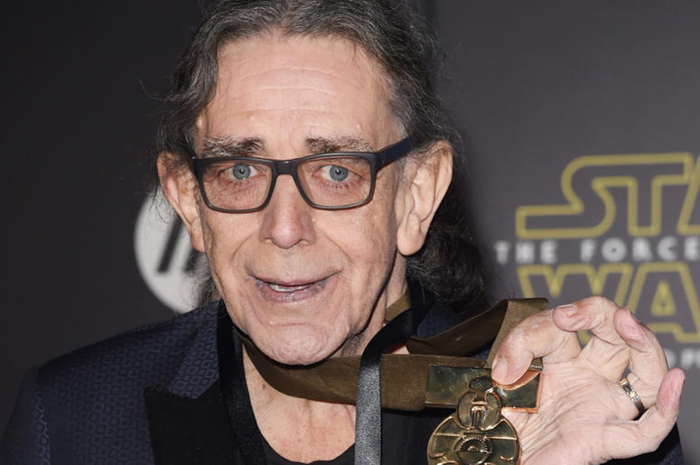 """Actor Peter Mayhew attends the premiere of Walt Disney Pictures and Lucasfilm's """"Star Wars: The Force Awakens"""""""