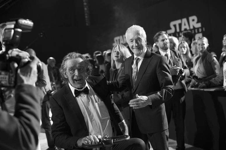 Peter Mayhew (L) and Actor Anthony Daniels at the world premiere of Lucasfilm's Star Wars: The Last Jedi