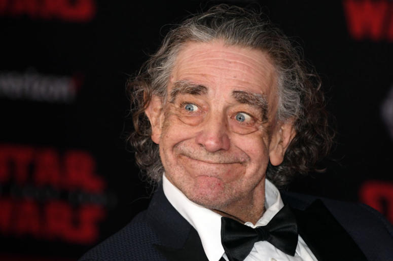 "Actor Peter Mayhew attends the premiere of Disney Pictures and Lucasfilm's ""Star Wars: The Last Jedi"" at The Shrine Auditorium on December 9, 2017 in Los Angeles, California."