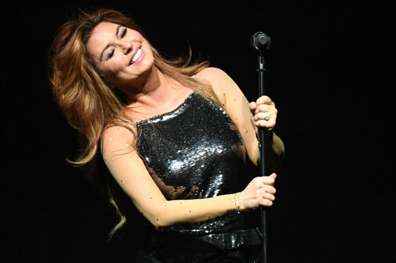Shania Twain performs at the BB&T Center.