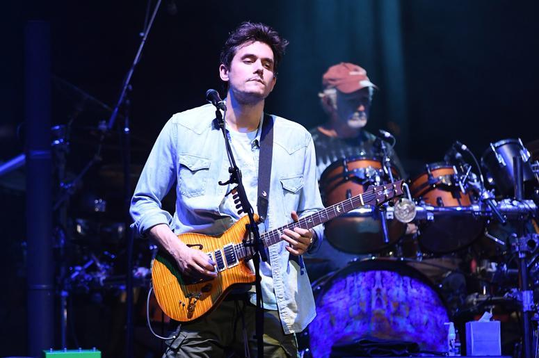 John Mayer performs
