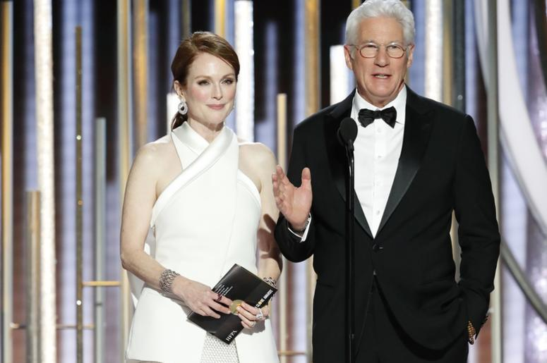 Julianne Moore and Richard Ger during the 76th Golden Globe Awards at the Beverly Hilton.