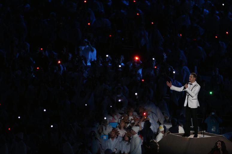Michael Buble performs