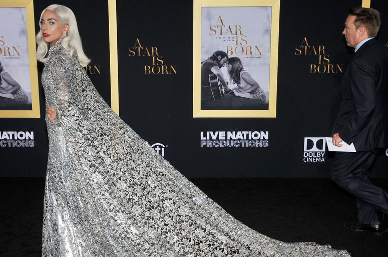 """Lady Gaga arrives at """"A Star Is Born"""" Los Angeles Premiere held at The Shrine Auditorium & Expo Hall in Los Angeles, CA on Monday, September 24, 2018."""