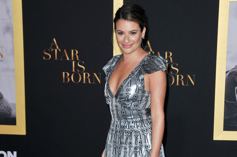 """Lea Michele arrives at """"A Star Is Born"""" Los Angeles Premiere held at The Shrine Auditorium & Expo Hall in Los Angeles, CA on Monday, September 24, 2018."""