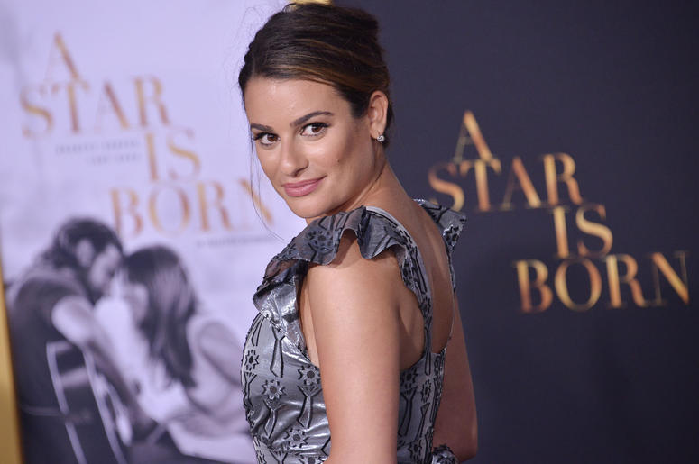 "Lea Michele arrives at ""A Star Is Born"" Los Angeles Premiere held at The Shrine Auditorium & Expo Hall in Los Angeles, CA on Monday, September 24, 2018."