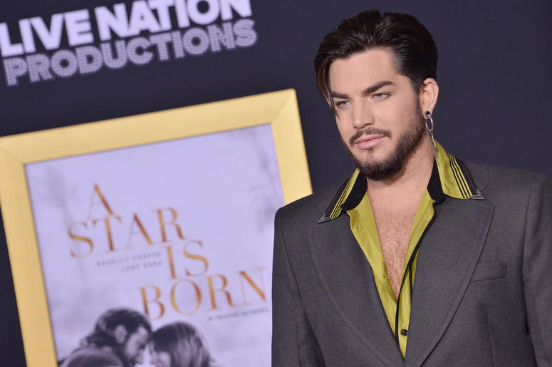 """Adam Lambert arrives at """"A Star Is Born"""" Los Angeles Premiere held at The Shrine Auditorium & Expo Hall in Los Angeles, CA on Monday, September 24, 2018. ("""