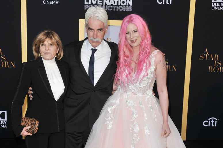 """(L-R) Katharine Ross, Sam Elliott and Cleo Rose Elliott arrives at """"A Star Is Born"""" Los Angeles Premiere held at The Shrine Auditorium & Expo Hall in Los Angeles, CA on Monday, September 24, 2018."""