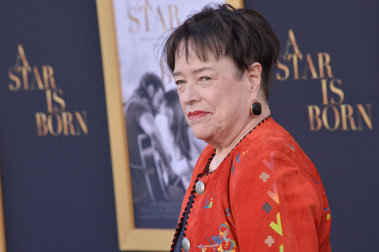 "Kathy Bates arrives at ""A Star Is Born"" Los Angeles Premiere held at The Shrine Auditorium & Expo Hall in Los Angeles, CA on Monday, September 24, 2018."