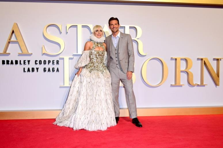 Lady Gaga and Bradley Cooper attending the UK Premiere of A Star is Born held at the Vue West End, Leicester Square, London.