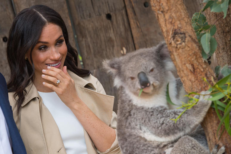 Meghan Markle during a visit to Taronga Zoo in Sydney on the first day of the Royal couple's visit to Australia.