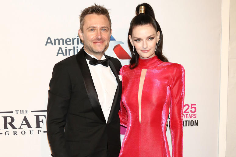 Chris Hardwick and Lydia Hearst attend the 17th Annual An Enduring Vision gala at Cipriani in New York.