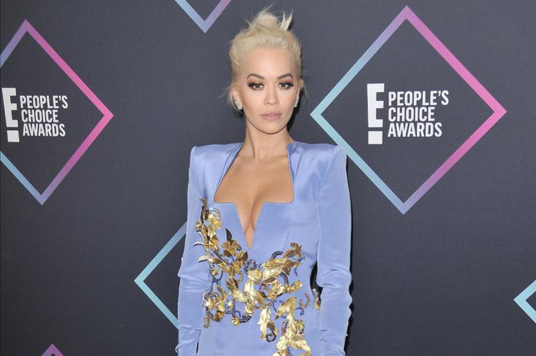Rita Ora arrives at the 2018 E! People's Choice Awards held at the Barker Hangar in Santa Monica, CA on Sunday, November 11, 2018.