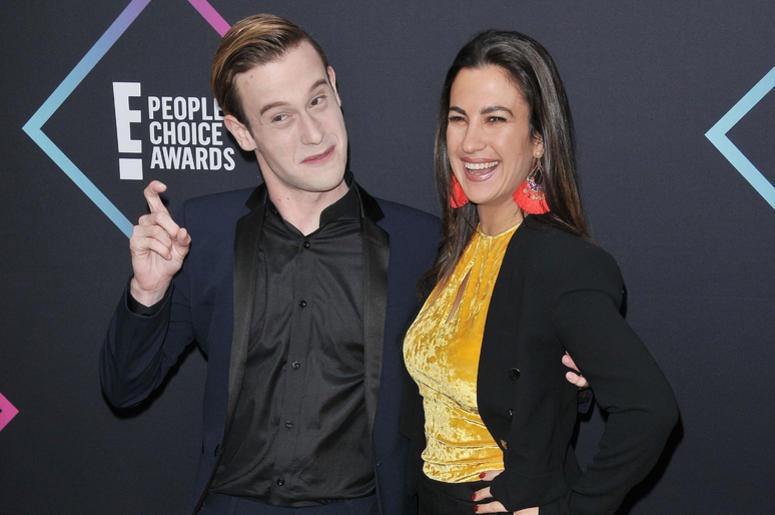 yler Henry and Charlie Travers arrives at the 2018 E! People's Choice Awards held at the Barker Hangar in Santa Monica, CA on Sunday, November 11, 2018