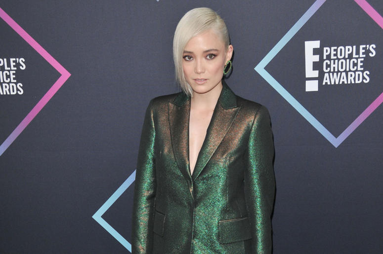 Pom Klementieff arrives at the 2018 E! People's Choice Awards held at the Barker Hangar in Santa Monica, CA on Sunday, November 11, 2018.