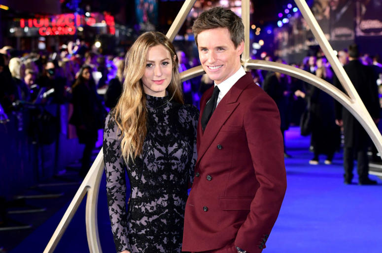 Hannah Bagshawe (left) and Eddie Redmayne (right) attending the Fantastic Beasts: The Crimes of Grindelwald UK premiere held at Leicester Square, London.