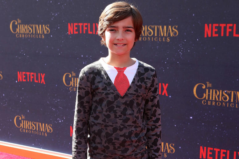 Elias Harger attends the Los Angeles Premiere 'The Christmas Chronicles' held at Regency Bruin Theatre on November 18, 2018 in Los Angeles, California,
