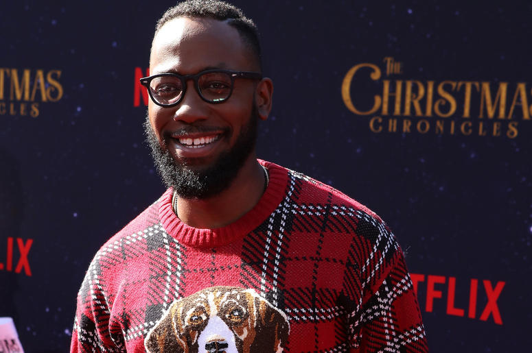 Lamorne Morris attends the Los Angeles Premiere 'The Christmas Chronicles' held at Regency Bruin Theatre on November 18, 2018 in Los Angeles, California