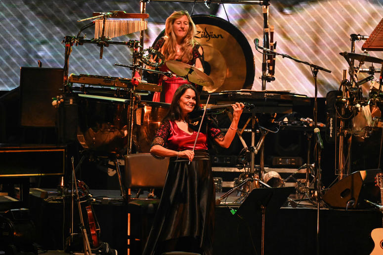 WEST PALM BEACH, FL - NOVEMBER 21: Mannheim Steamroller in concert at The Kravis Center in West Palm Beach, Florida on November 21, 2018.