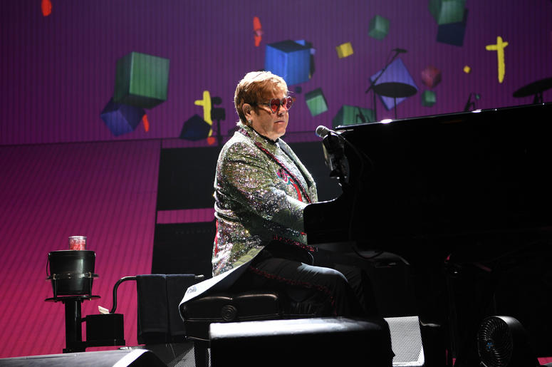 Elton John in Concert at the BB&T Center in Sunrise, Florida on November 23, 2018.