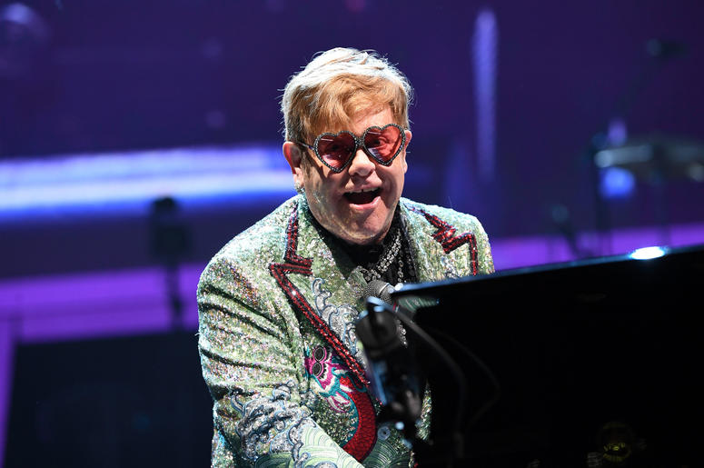 Elton John in Concert at the BB&T Center in Sunrise, Florida on November 23, 2018