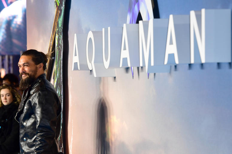 Jason Momoa attending the Aquaman premiere held at Cineworld in Leicester Square, London.
