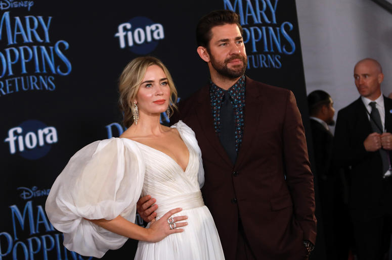 Emily Blunt and John Krasinski at the Disney's 'Mary Poppins Returns' Los Angeles Premiere held at the Dolby Theatre on November 29, 2018 in Hollywood, CA, USA (