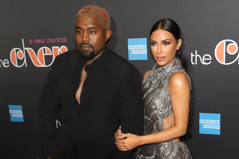 "Kanye West and Kim Kardashian West attend the opening night of ""The Cher Show"" on Broadway at the Neil Simon Theatre in New York"