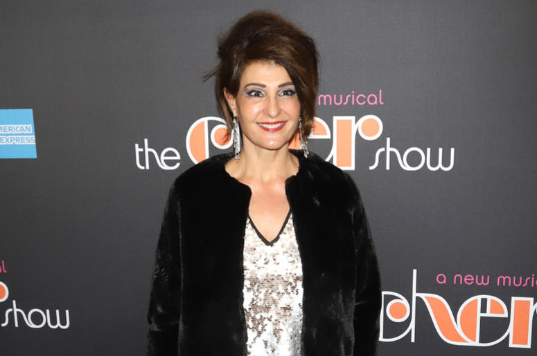"Nia Vardalos attends the opening night of ""The Cher Show"" on Broadway at the Neil Simon Theatre in New York."