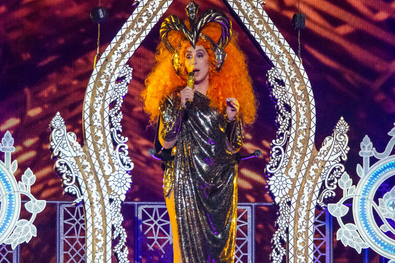 Cher performs during her 'Here We Go Again' tour