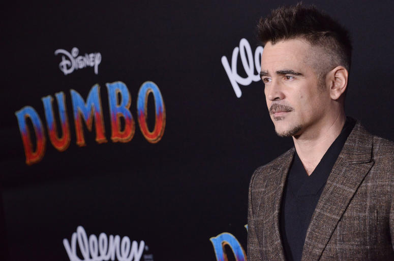 "Colin Farrell arrives at Disney's ""Dumbo"" Los Angeles Premiere held at the El Capitan Theatre in Hollywood, CA on Monday, March 11, 2019."