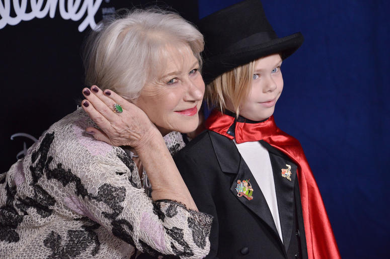 "Dame Helen Mirren and Grandson Waylon at Disney's ""Dumbo"" Los Angeles Premiere held at the El Capitan Theatre in Hollywood, CA on Monday, March 11, 2019."