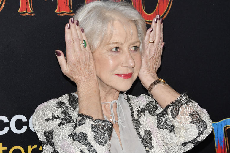 "Dame Helen Mirren arrives at Disney's ""Dumbo"" Los Angeles Premiere held at the El Capitan Theatre in Hollywood, CA on Monday, March 11, 2019."