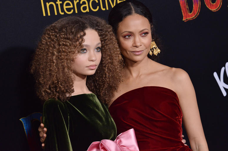"(L-R) Nico Parker and Thandie Newton at Disney's ""Dumbo"" Los Angeles Premiere held at the El Capitan Theatre in Hollywood, CA on Monday, March 11, 2019."