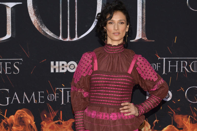 """Indira Varma attends HBO's """"Game of Thrones"""" eight and final season premiere at Radio City Music Hall in New York, NY, April 3, 2019."""