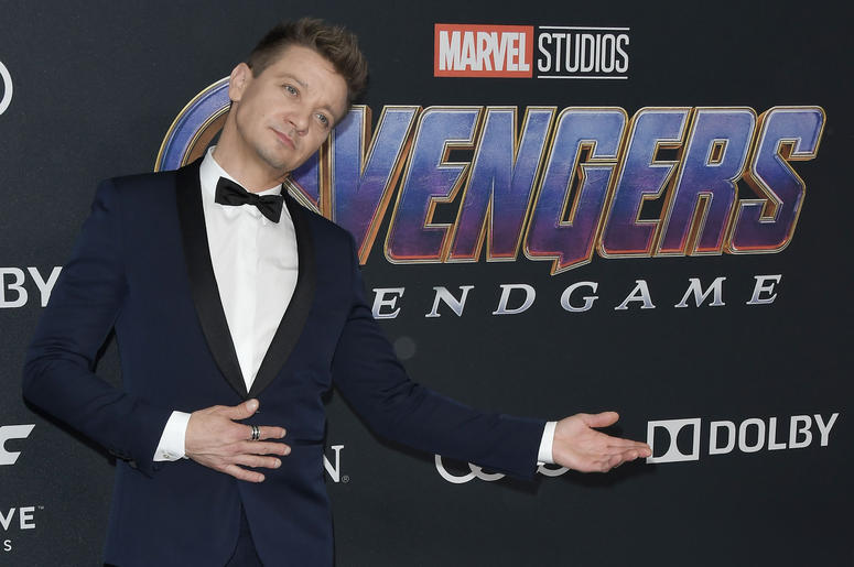 """Jeremy Renner arrives at Marvel Studios' """"Avengers: Endgame"""" World Premiere held at the Los Angeles Convention Center in Los Angeles, CA on Monday, April 22, 2019."""